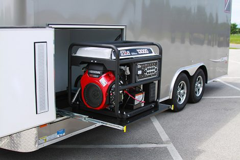 Lateral Lining Trailer Power Generator