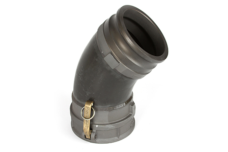 Pipe relining liner inversion 45-degree lining drum nozzle elbow adapter 922-4916